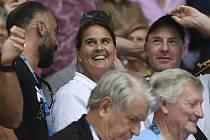 Conchita Martinezová (na snímku z 23. ledna 2019) se v hledišti raduje z postupu své svěřenkyně Karolíny Plíškové do semifinále Australian Open