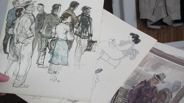 """JEHO MÉNĚ ZNÁMÁ TVÁŘ. Věděli jste, že Jiří Šlitr nebyl """"jen"""" mimořádně talentovaným písničkářem a divadelníkem, ale i výtvarníkem?"""