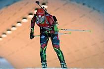 Biatlonistka Gabriela Soukalová ve vytrvalostním závodě MS.