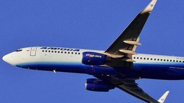 Boeing 737 ruské společnosti Alrosa