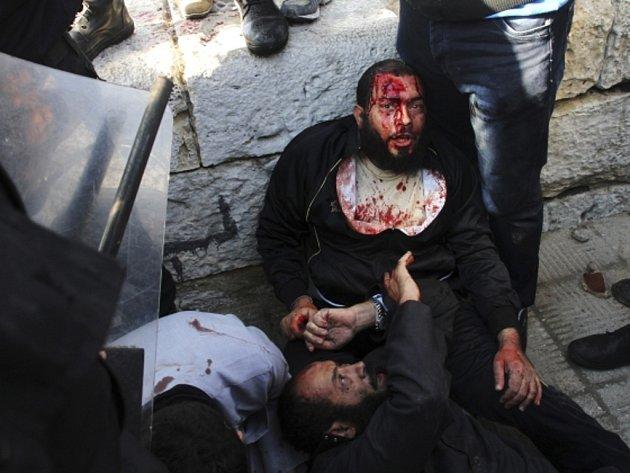 Demonstrace islamistů v Alexandrii.