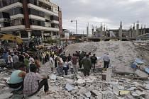 Následky zemětřesení ve městě Pedernales.