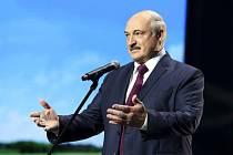 Běloruský prezident Alexandr Lukašenko při svém projevu v Minsku
