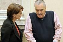Místopředseda vlády a ministr zahraničí Karel Schwarzenberg a ministryně kultury Alena Hanáková