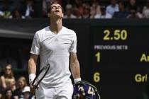 Andy Murray titul na Wimbledonu neobhájí, skončil ve čtvrtfinále.