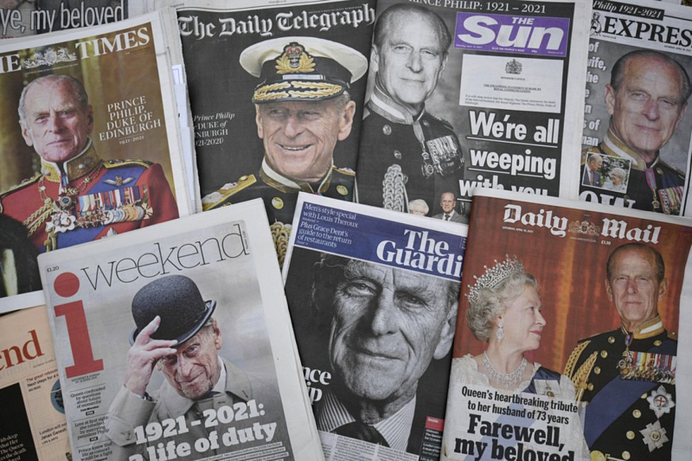 Britský tisk o úmrtí prince Philipa