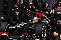 Romain Grosjean v boxech.