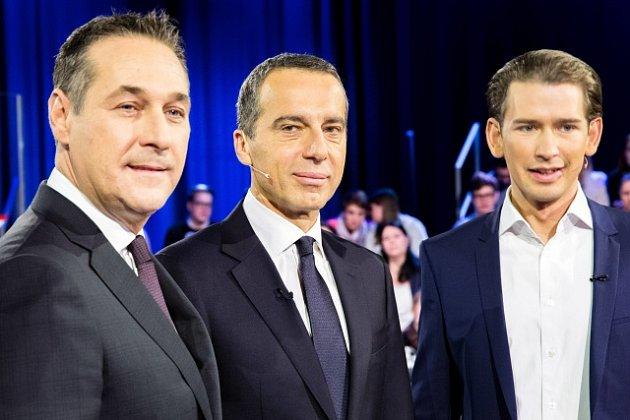 Lídři tří ústředních stran vRakousku