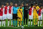 Utkání 3. kola skupinové fáze Ligy mistrů mezi SK Slavia Praha a FC Barcelona
