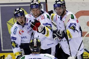 Liberečtí hokejisté slaví postup do čtvrtfinále play off.
