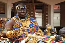 Korunovační klenoty ghanského kmene Ašanti.