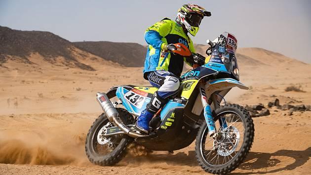 Motocyklový jezdec Martin Michek na Rallye Dakar 2020