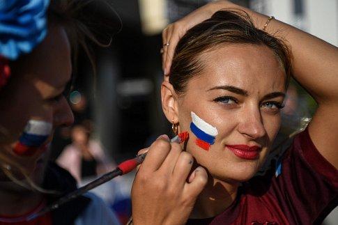 Ruská fanynka. Fotbalové MS Rusko 2018