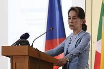 Barmská vůdkyně Do Aun Schan Su Ťij