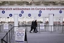 Očkovací centrum v Hamburku