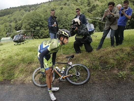 Alberto Contador po osudném pádu