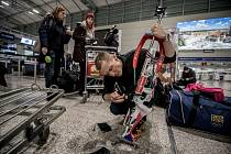 Čeští biatlonisté odletěli 25. ledna z Prahy na soustředění do Turecka před zimní olympiádou v Jižní Koreji. Václav Moravec