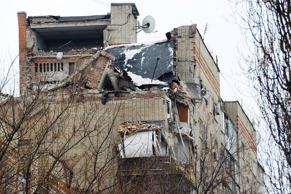 V Šachtách na jihozápadě Ruska explodoval v bytovém domě plyn
