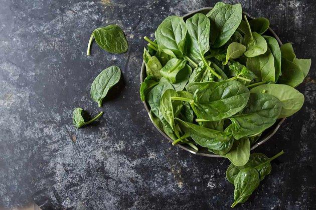 Zelenina - zelený špenát