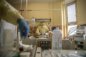 Covidové oddělení v nemocnici v Sokolově.