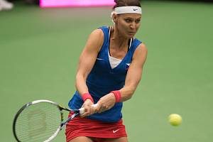 Lucie Šafářová v semifinále Fed Cupu.