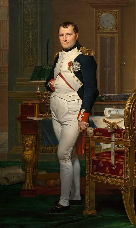 Jacques-Louis David: Napoleon Bonaparte ve své pracovně v Tuilerijském paláci