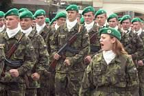 Slavnostní přísaha vojínů základní vojenské služby v Lipníku nad Bečvou. Ilustrační foto.