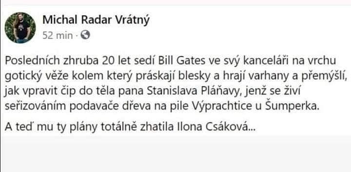 Velký ohlas si získaly i facebookové příspěvky Ilony Csákové