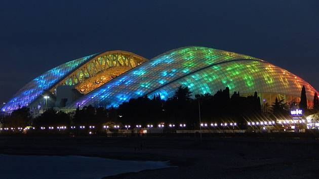 Olympijský stadion Fišt (Soči, 47 659 diváků). Jak už název napovídá, aréna byla postavena pro olympijské hry, které se v Rusku konaly před čtyřmi lety. Její jméno bylo inspirováno kavkazskou horou Fišt a její design má připomínat zasněžený vrcholek.