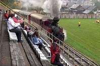 Čierny Balog: na Slovensku dokonce jezdí vlak mezi tribunou a hřištěm