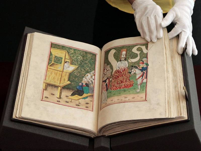 Jenský kodex a další unikáty představuje Národní muzeum a Husitské muzeum v Táboře na výstavách k 600. výročí upálení mistra Jana Husa.