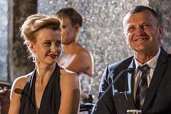 Česká televize uspořádala 7. září v Praze tiskovou konferenci k sedmé řadě televizní taneční soutěže StarDance. Jitka Schneiderová a Rostislav Osička.