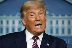 Americký prezident Donald Trump v Bílém domě ve Washingtonu, 5. listopadu 2020