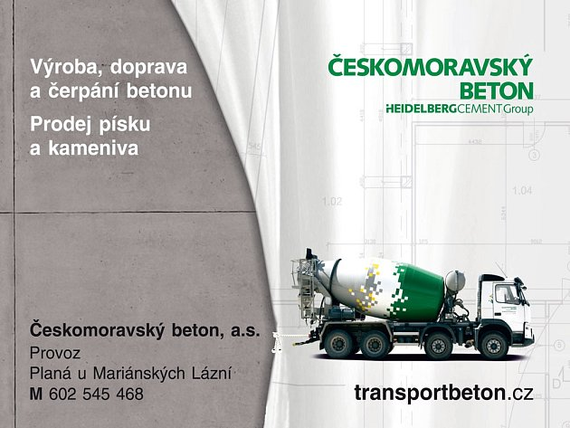 Českomoravský beton, a.s. provoz Kraslice, Mobil: 602 545 468