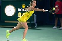 Barbora Strýcová na turnaji v Dubaji.