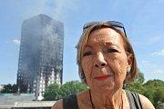 Požár budovy v Londýně