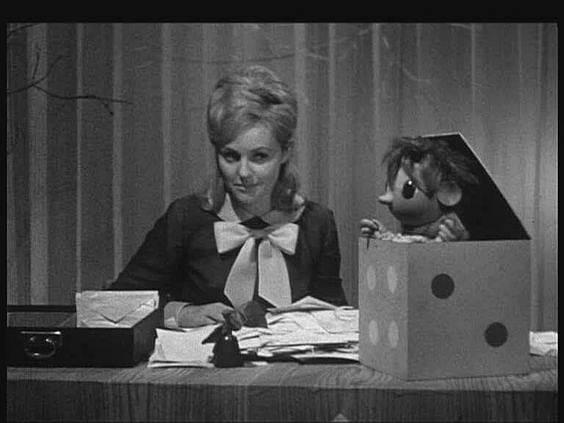 V pořadu jí sekundoval čertík Bertík.