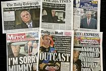 Britský tisk píše o skandálu prince Andrewa.