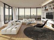 Na pankrácké pláni v Praze roste nejvyšší bytový dům v Česku, luxusní třicetipodlažní V Tower se 130 byty, vysoký 104 metrů.