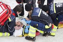 Hororovou nehodu měl Olivier Jenot z Monaka, jenž tvrdě dopadl po dlouhém nekontrolovaném letu.