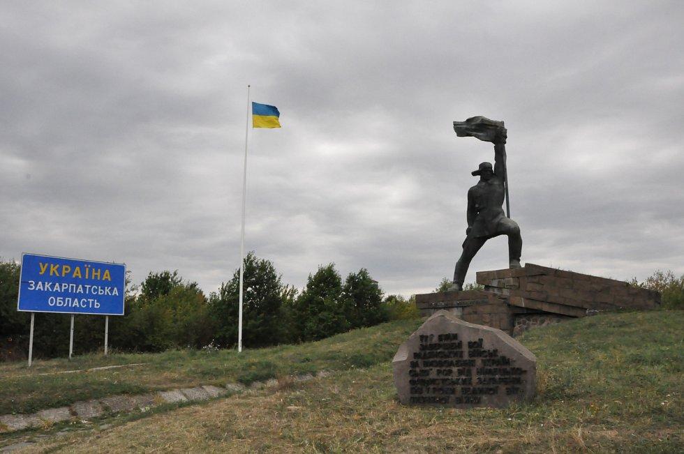 Památník na ukrajinské hranici