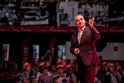 Předseda Českomoravské konfederace odborových svazů (ČMKOS) Josef Středula vystoupil 11. září v Praze na shromáždění odborářů před začátkem kolektivního vyjednávání o růstu mezd ve firmách.