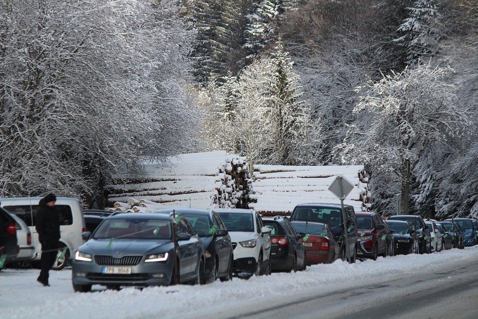 Skiareály na Šumavě 27. prosince.