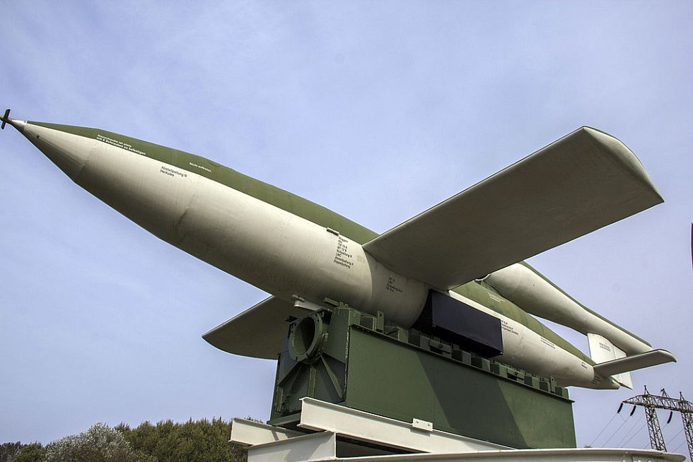 Raketa V-1 v muzeu v Peenemünde