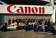 Tým Williams během sezony 1992