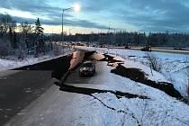 Aljašku zasáhlo zemětřesení o síle 7 stupňů