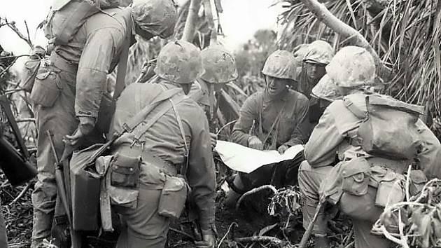 Plánování bitevního útoku na Iwodžimě