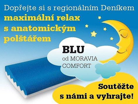 Dopřejte si s regionálním Deníkem maximální relax  s anatomickým polštářem BLU od MORAVIA COMFORT.