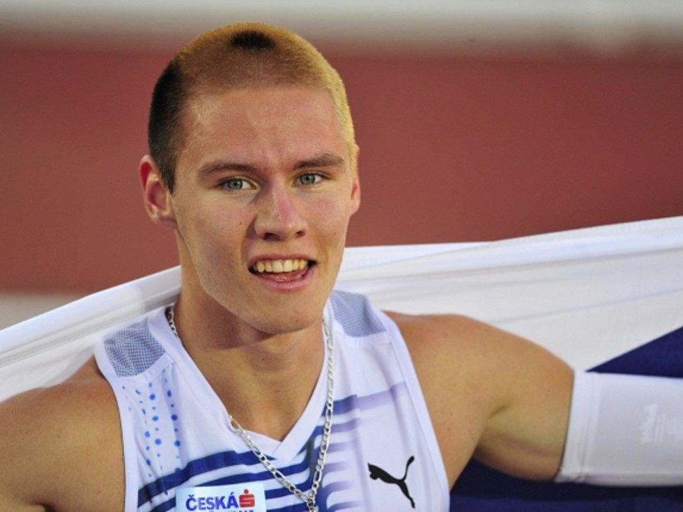 Mistr Evropy v běhu na 400 metrů Pavel Maslák.
