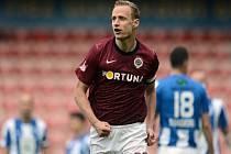 Jiří Jarošík ze Sparty se raduje z gólu proti Mladé Boleslavi.